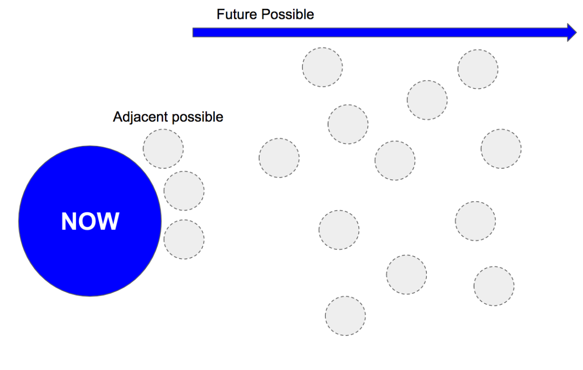 The adjacent possible: a proposal for the resilient economy  in the adjacent possible